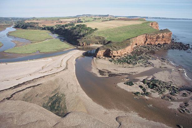 The Lower Otter Estuary in Budleigh Salterton.
