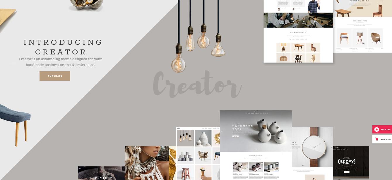 Creator - handmade woocommerce theme