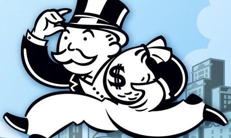 """Monopoly guy representando o """"capitalista"""""""