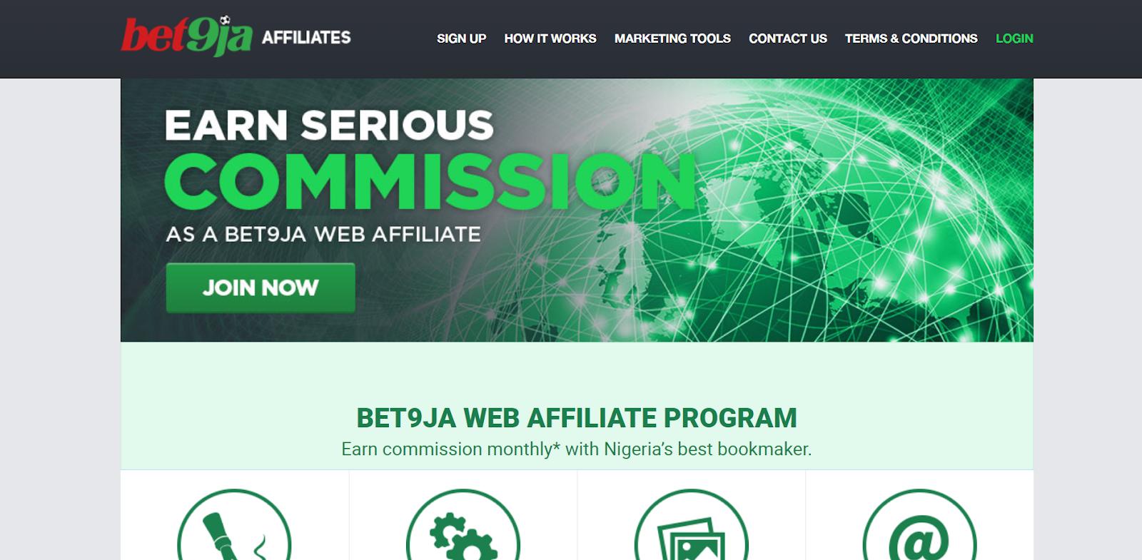join Bet9ja Affiliate Marketing Program in Nigeria 2021