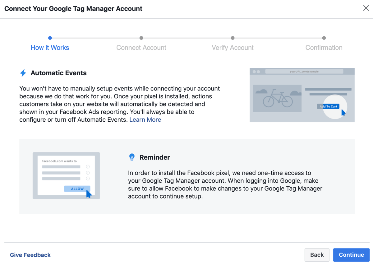 kết nối tài khoản Google Tag Manager với Facebook