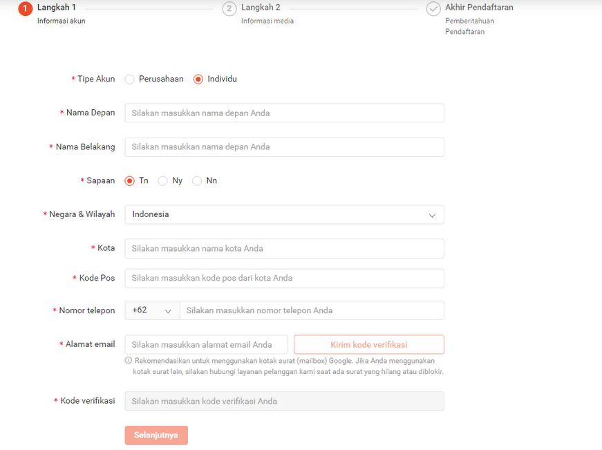 cara dan syarat mendaftar shopee affiliate program