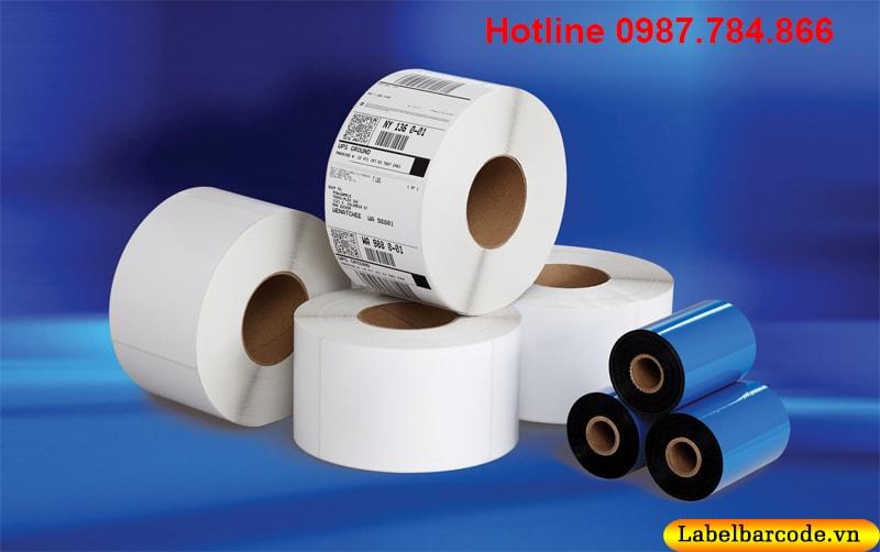 Mực in mã vạch wax thông dụng nhất với hầu hết các loại giấy in khác nhau