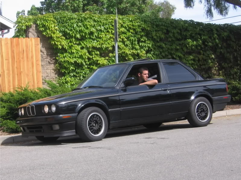 Mitchell in his 1989 BMW 325is