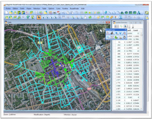 routefinder mapinfo Isochrones