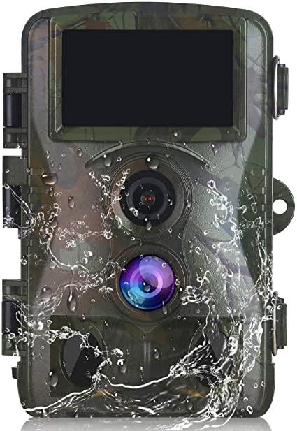 Vmotal Trail Camera Game Hunting Scouting Cam 4K Video/20MP Image Wildlife Monitoring 120° Detecting Range Motion Activated Night Vision 3 Infrared Sensors 0.2s Trigger Speed 2.4''LCD Waterproof H6P