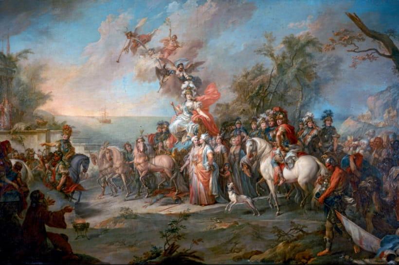 """Стефано Тореллі, """"Перемога Катерини II над турками"""" (1772)"""