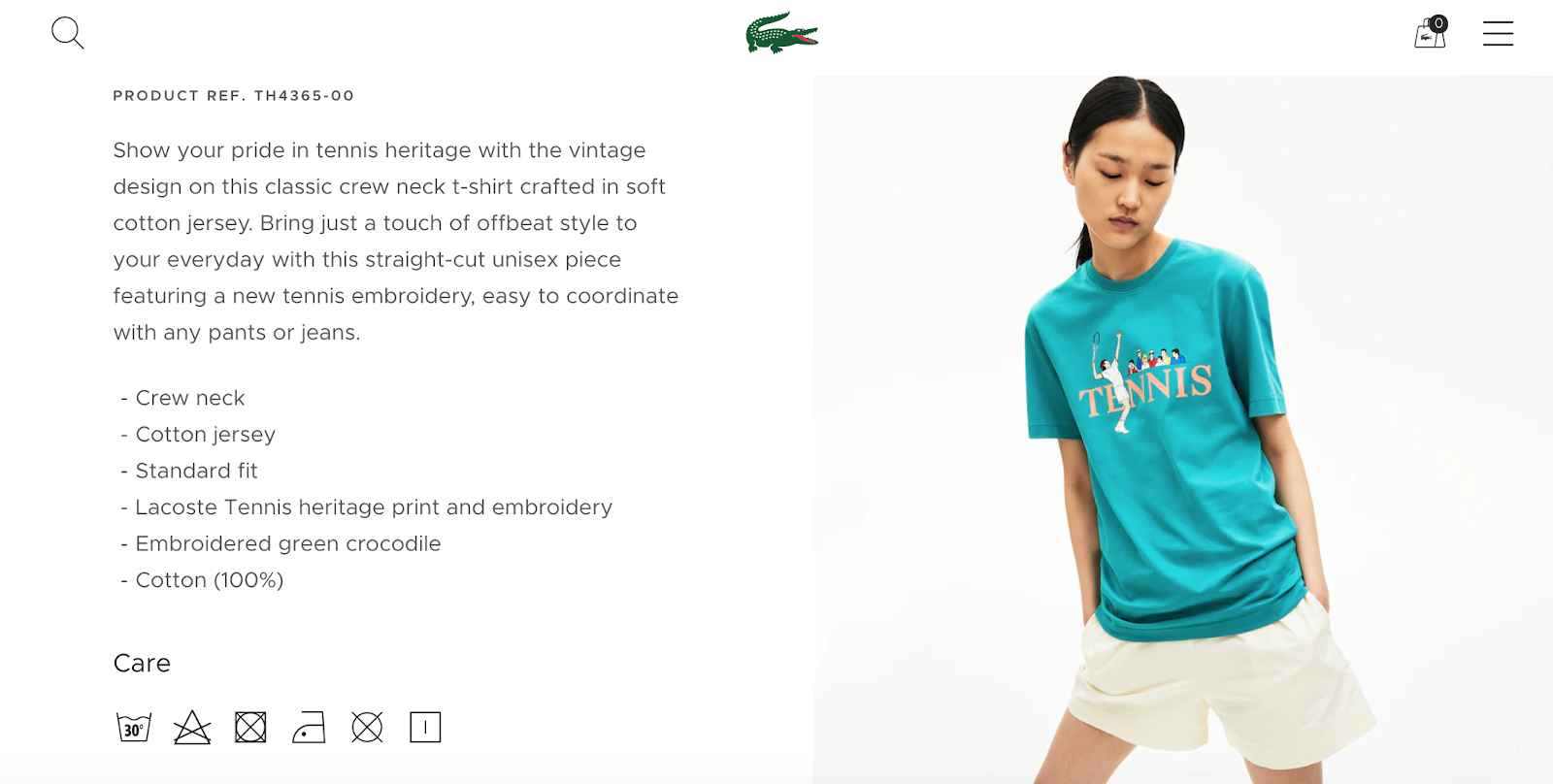 best product detail page examples lacoste 2