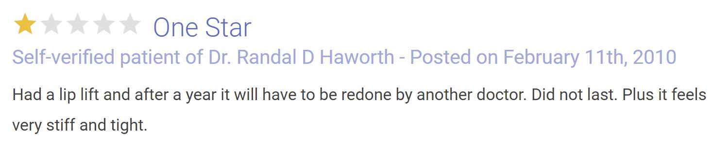 Dr. Randal Haworth review 4