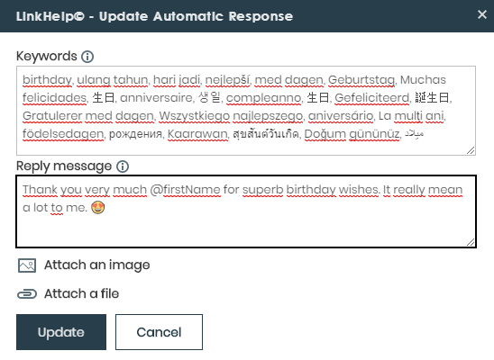 Edit  message LinkedIn