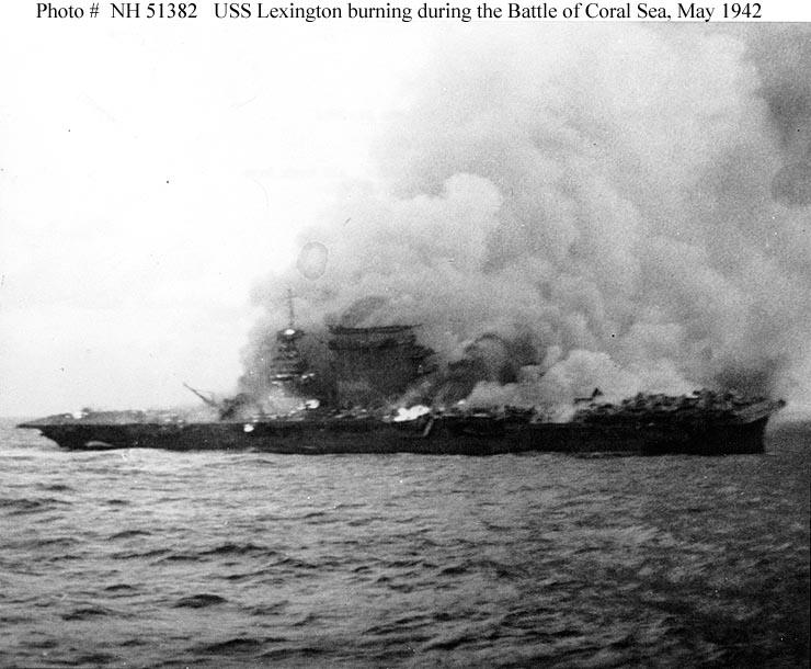 USS Lexington (CV-2) burning and sinking.jpg