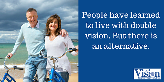 People have learned to live with double vision.  But there is an alternative.
