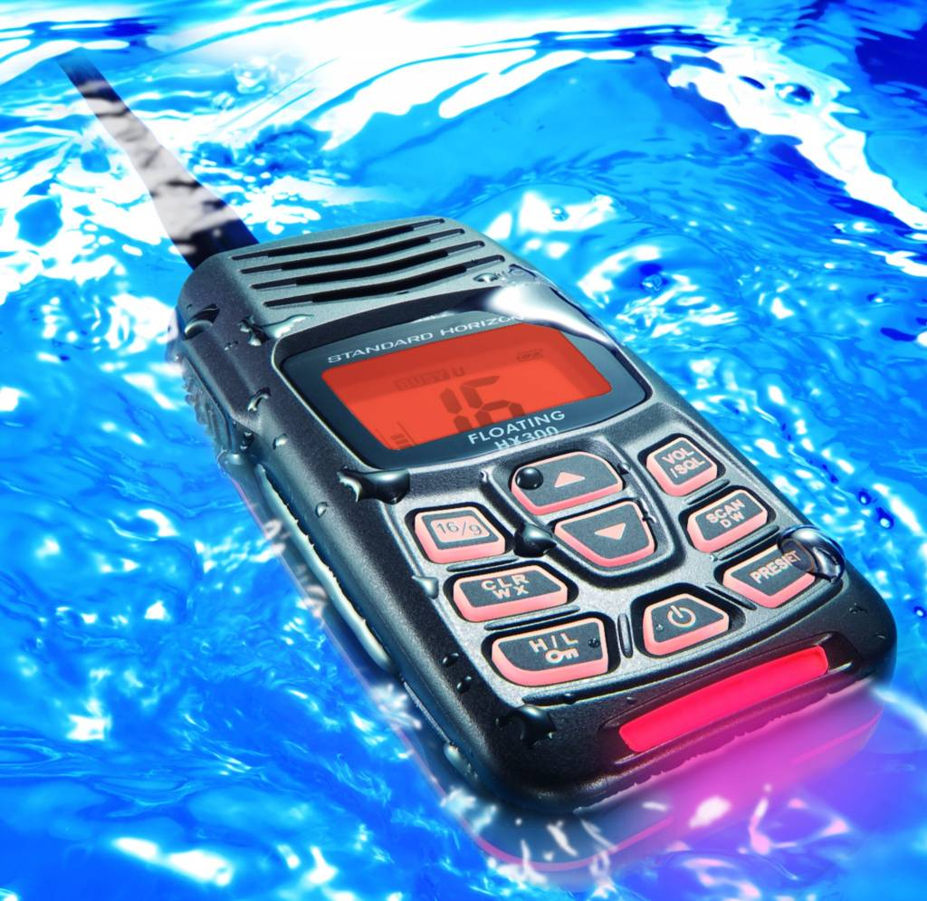radio floating in water