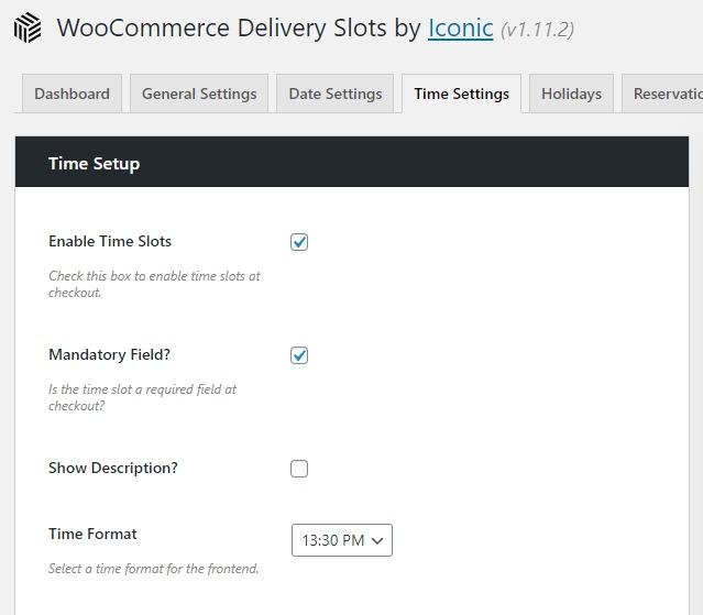 time slots woocommerce