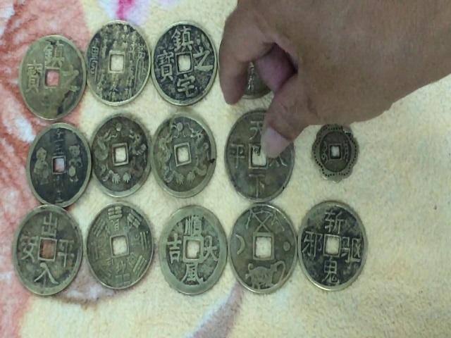 Đồng tiền  cổ là biểu tượng cho sự may mắn