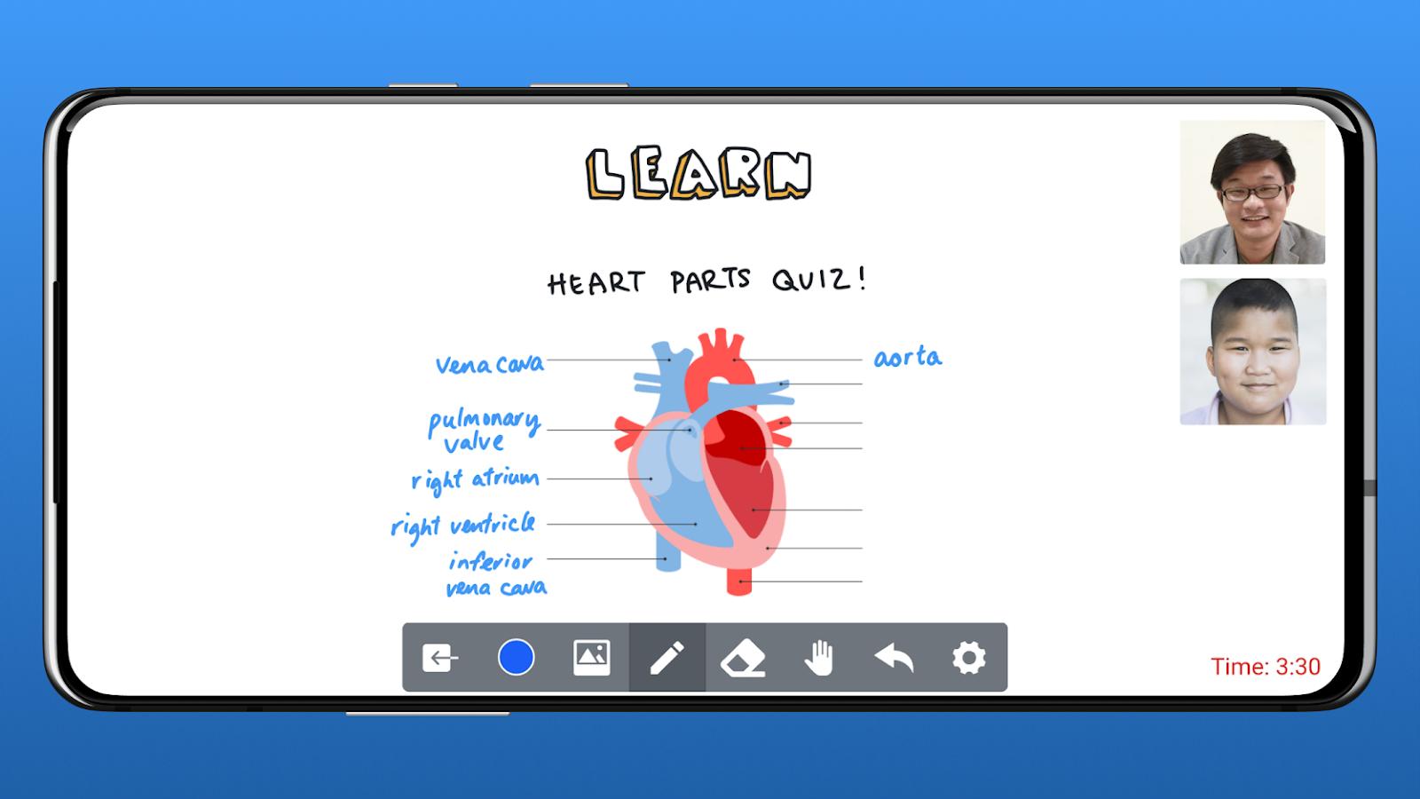 Online teaching platforms: HeyHi's online whiteboard