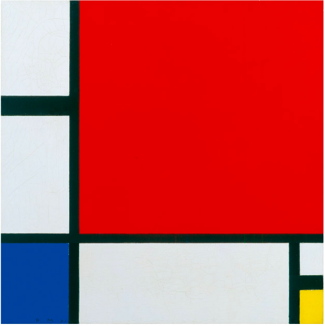 Piet Mondrian  Komposition mit Rot, Blau und Gelb (Composition in Red, Blue and Yellow)