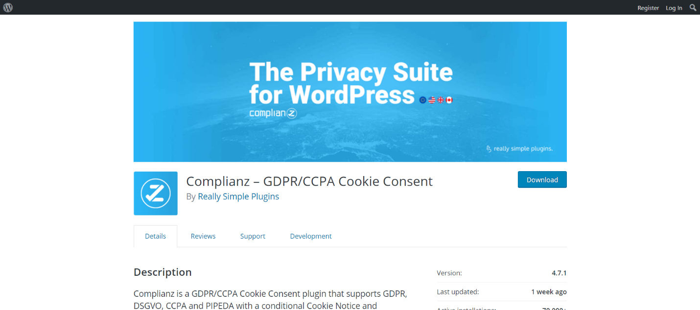 Complianz – GDPR/CCPA Cookie Consent