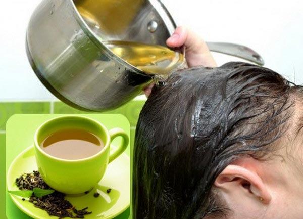 Chữa rụng tóc bằng trà xanh