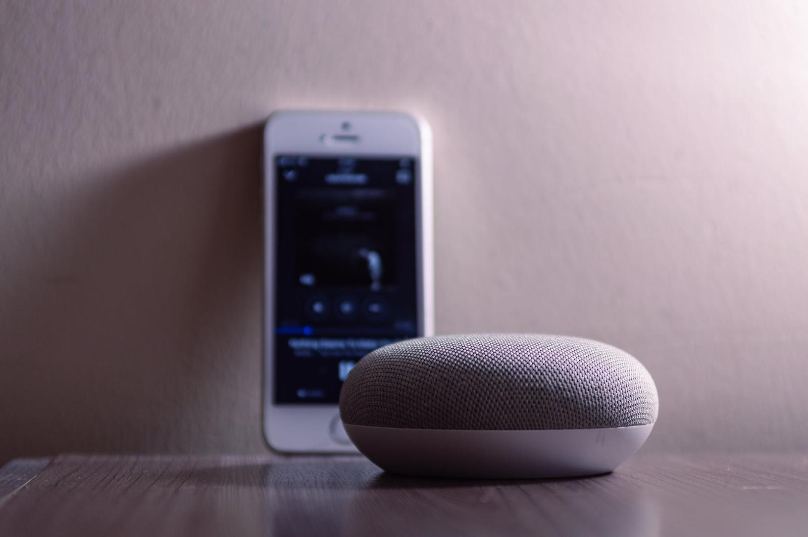 Iphone en Google speaker