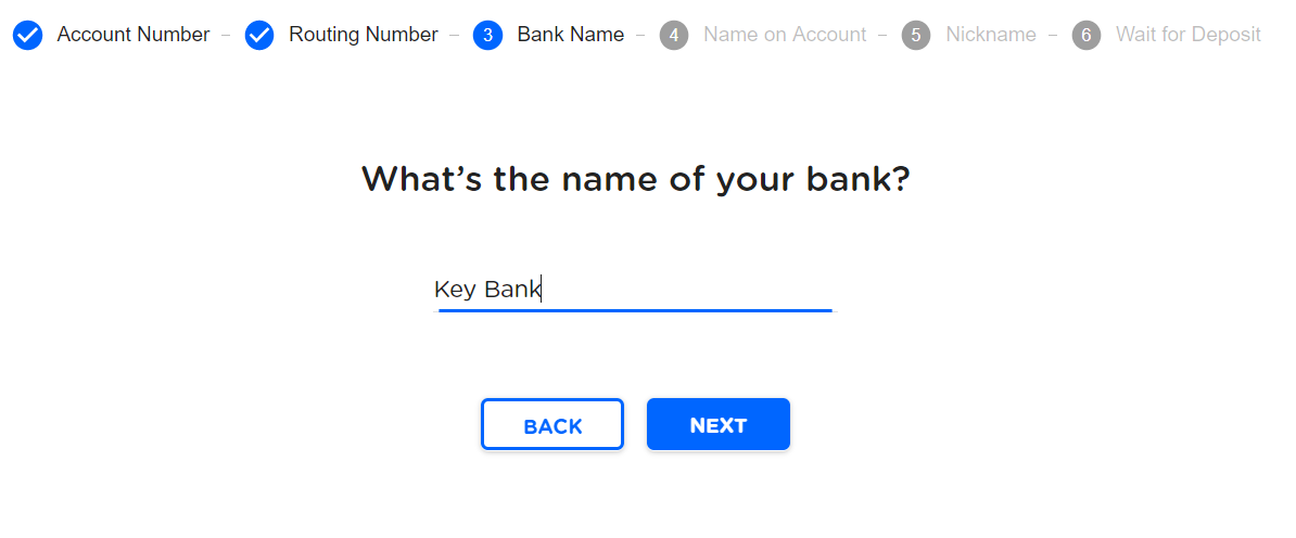 Linking bank account - New | ClassWallet