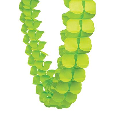 Discount Party Supplies Decorative Honeycomb Garland 4m - Lime Green