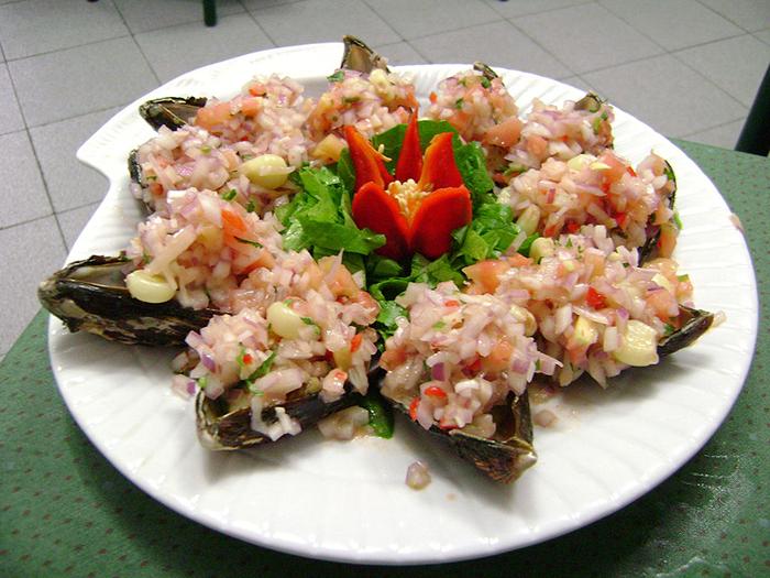 ferias gastronómicas: Un delicioso plato de Choritos a la Chalaca