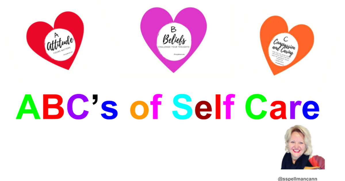 School Counselling ABC's of Self Care  - Google Slides
