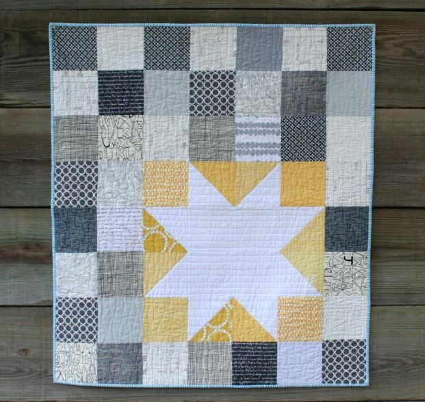 Free Star Bright Quilt - Pattern available on Craftsy.com