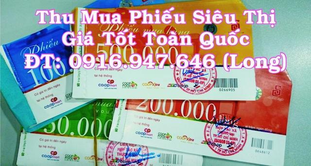 Hãy đến với thumuaphieusieuthi.com để dễ dàng bán phiếu coopmart với số lượng lớn và mức giá tốt nhất