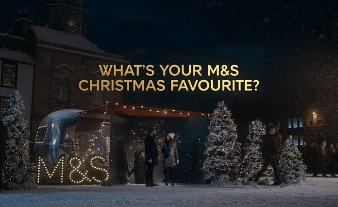 marks and spencer at Christmas - recurpost - social media scheduler