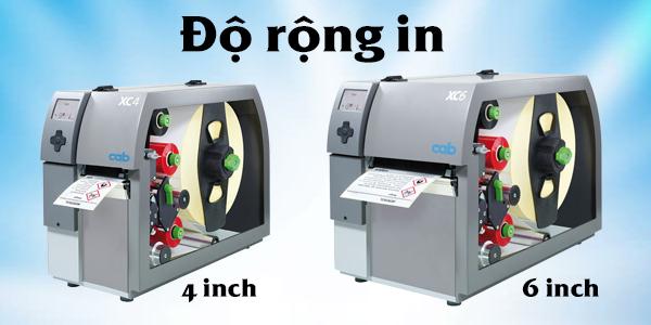 Máy in mã vạch có độ rộng in lớn có thể in được các tem nhãn có độ rộng in lớn hơn nhưng máy in mã vạch có độ rộng in nhỏ lại không thể in được các tem nhãn có độ rộng in lớn.