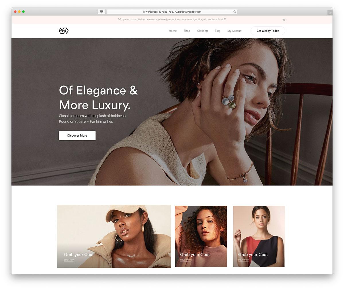 Wordpress ecommerce themes webify