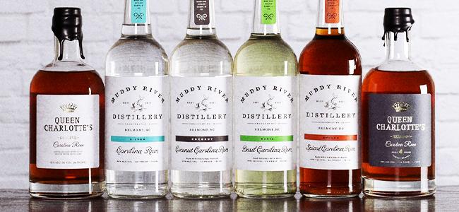 Muddy River Distillery's Carolina Rums