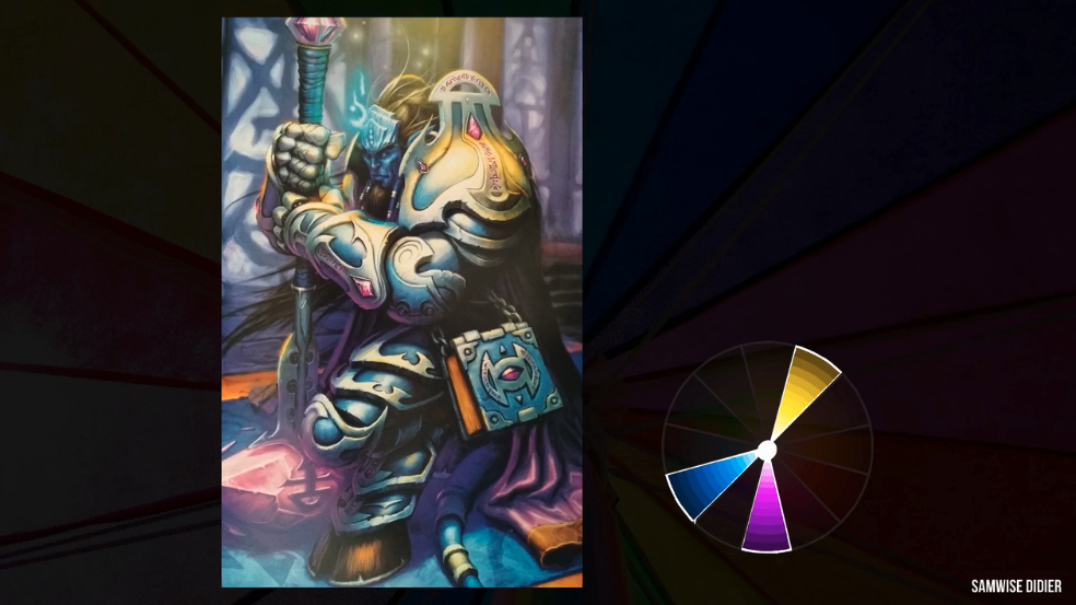 color wheel of knight paainting