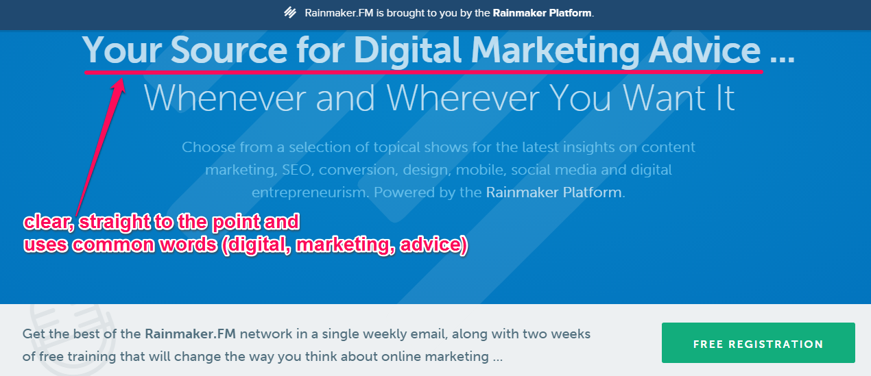 """A screenshot of a headline reading """"Your source for digital marketing advice..."""""""