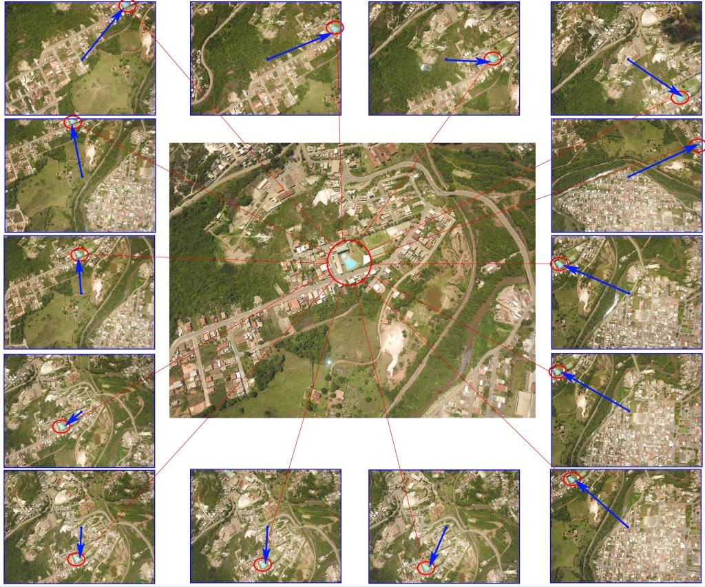 Demonstração de um mesmo objeto identificado em várias imagens