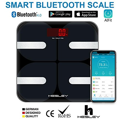 HESLEY Fat BMI Smart Bluetooth Body Digital Weighing Scale