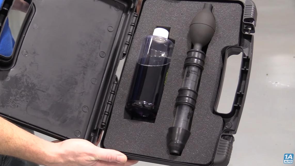 Combustion leak detector test kit