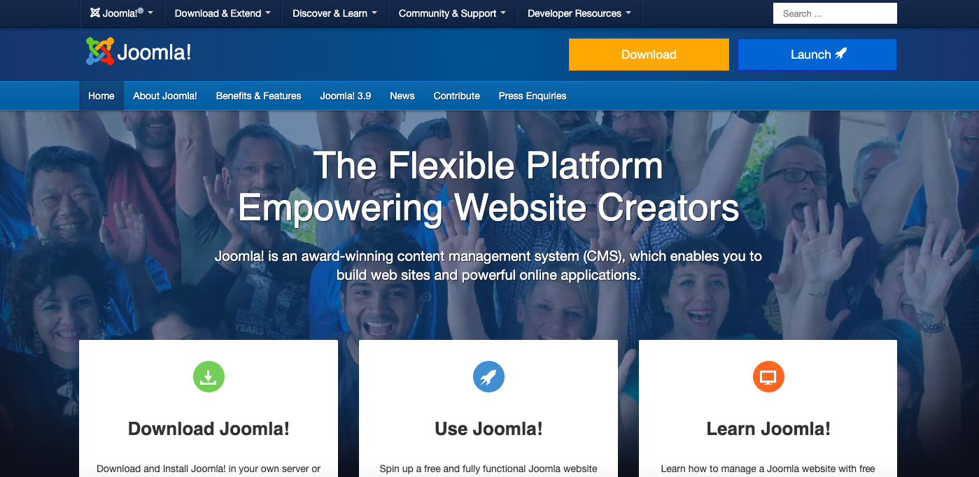 free blogging platform joomla
