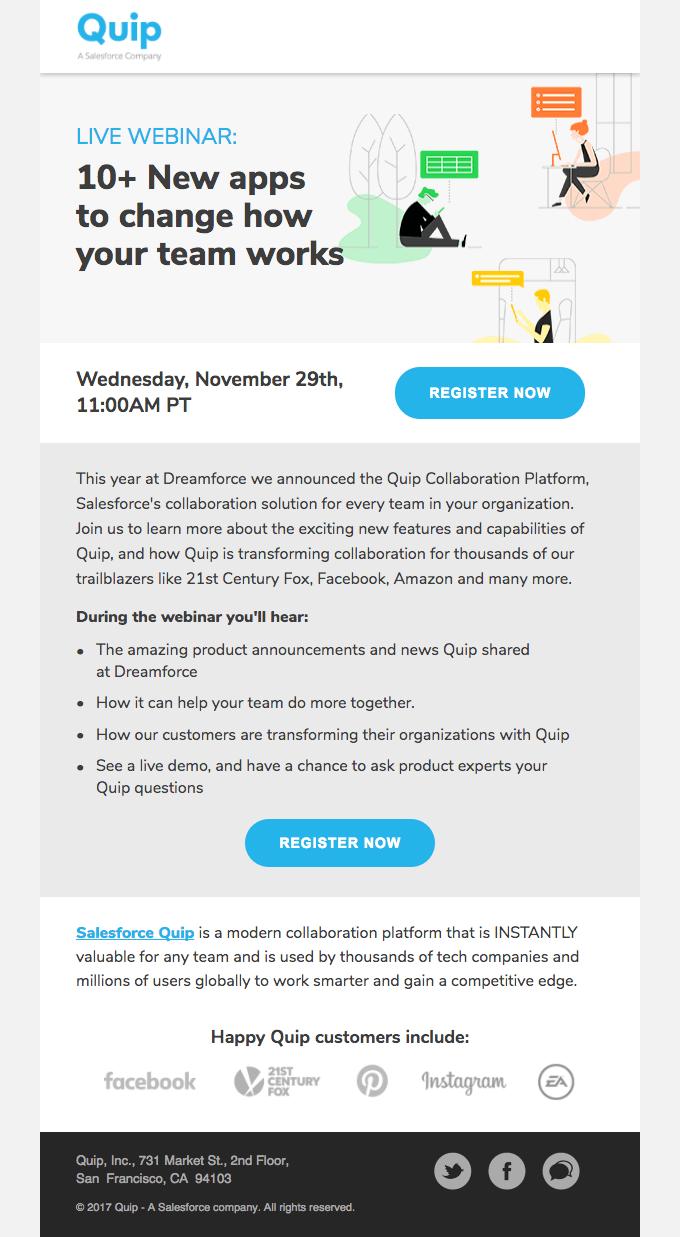 Promova o próximo email de retenção do webinar AARRR