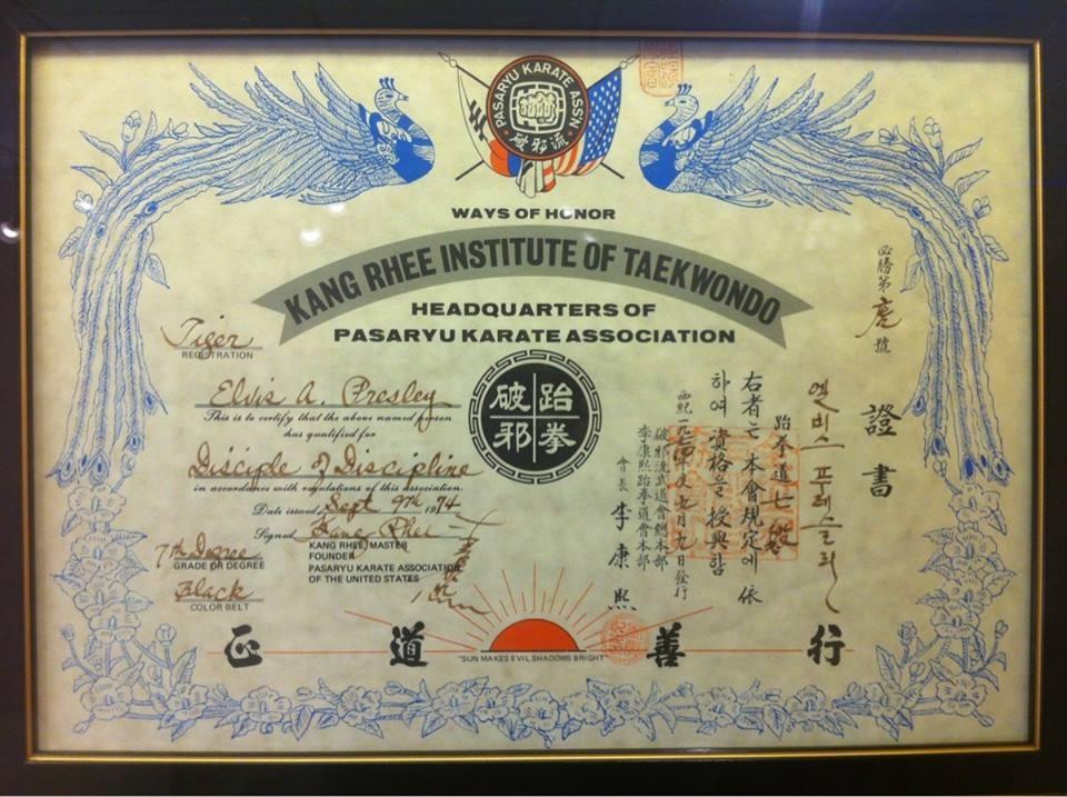 ElvisPresley diploma 7danKarate entidade de TKD.jpg