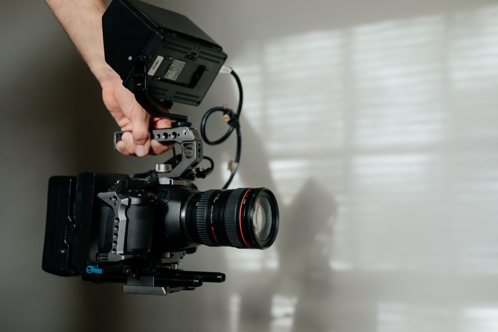 A video camera to take product videos for marketing purpose.