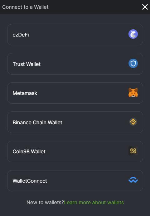 Chọn loại ví mà các bạn đang sử dụng