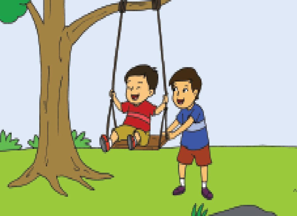 Hasil gambar untuk gambar anak bermain ayunan