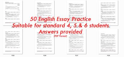 Contoh Essay Bahasa Inggeris Upsr 2016