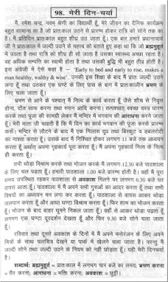 Essay on daily routine in summer vacation in hindi