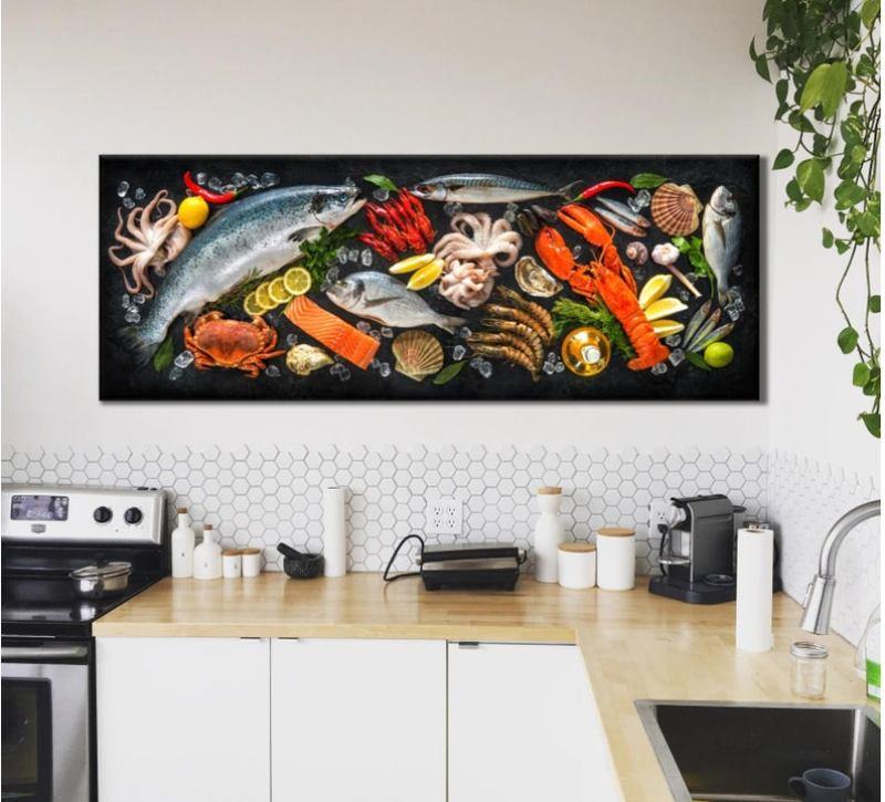 large kitchen wall art