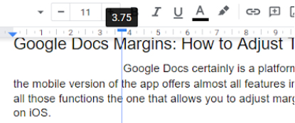 Set Google Docs Margins to 3.75