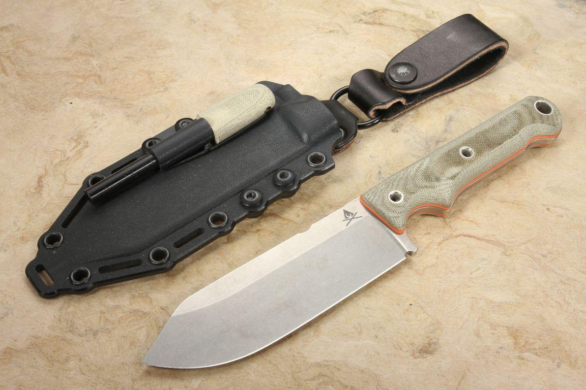 "White River Firecraft 5"" CPM S35VN Steel Micarta Survival Knife-In Stock"